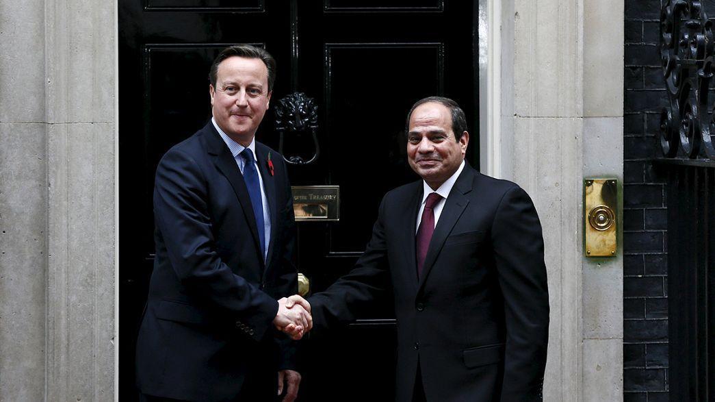 David Cameron defende cancelamento de voos frente a um duvidoso Al-Sisi