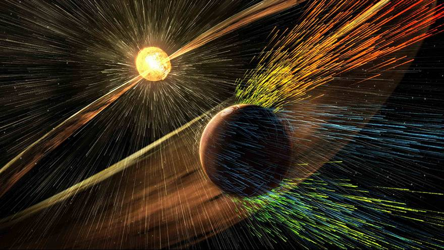 """El viento solar mató a Marte"""