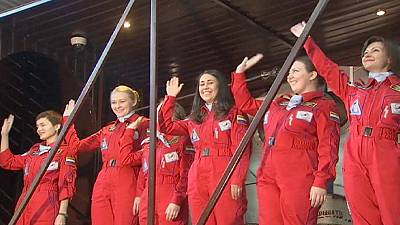 Russia: All-female space crew emerge from moon mission experiment