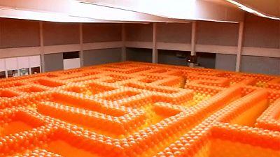 Balloon maze in Belgium – nocomment