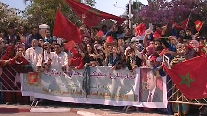Despliegue patriótico marroquí en el Sáhara Occidental para celebrar el 40 aniversario de la Marcha Verde