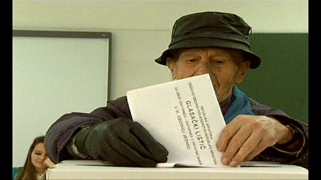 Horvátországi választás: fej fej mellett