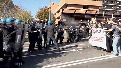 Clashes in Bologna ahead of planned Northern League rally