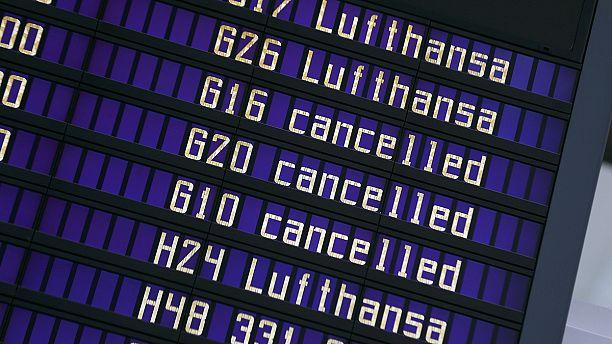 Strike grounds 100,000 passengers as Lufthansa cancels 900 flights