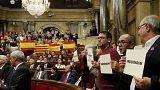 التصويت على قرار استقلال كتالونيا يزعزع استقرار الحكومة المركزية في مدريد