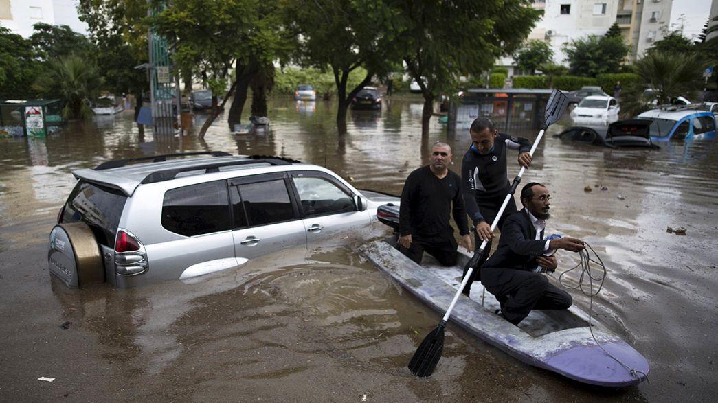 Inondazioni Medio Oriente. Allagamenti a Gaza e Israele