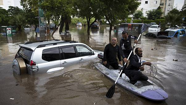 Torential rain causes widespread flooding in Gaza and Israel