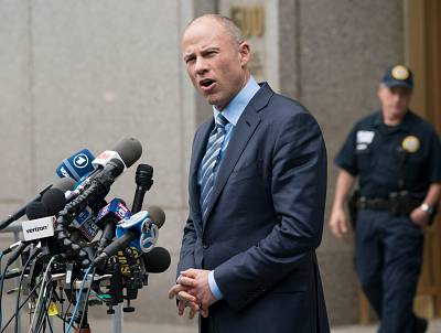 Michael Avenatti speaks to reporters as he leaves the United States District Court Southern District of New York on May 30, 2018 in New York.