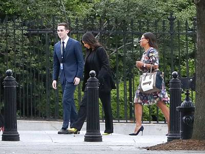 Kim Kardashian West visited the White House Wednesday to meet with Jared Kushner.