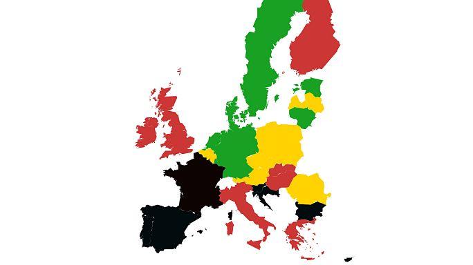 [Carte interactive] Ces Etats européens qui finissent l'année à crédit