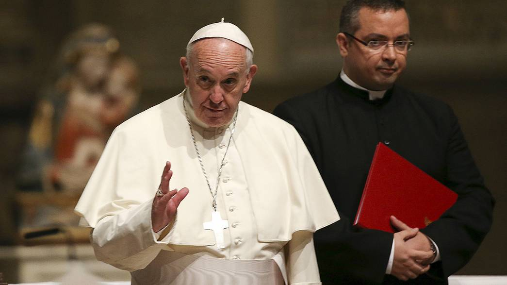 Pope Francis in Prato denounces exploitation of migrant workers