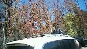 Una cámara policial captura el espectacular accidente de un coche robado