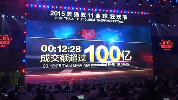 Alibaba sales break Singles' Day record in China