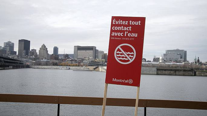 Kanada'da kanalizasyonun nehre boşaltılması protesto edildi