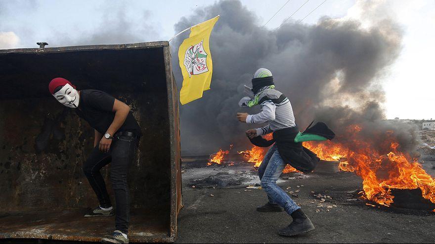 Палестино-израильские столкновения в Рамалле