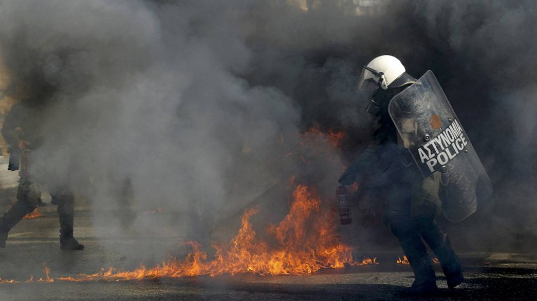 Athen: Ausschreitungen begleiten Generalstreik in Griechenland