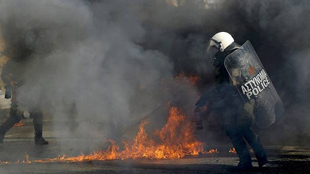 Street clashes in Athens as Greek Prime Minister Alexis Tsipras faces general strike