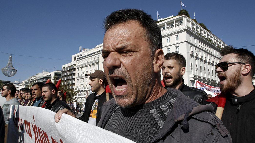 النقابات اليونانية تشهر سلاح الإضراب والاحتجاجات في وجه حكومة تسيبراس