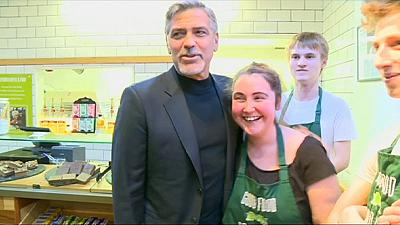 Coffee for George Clooney in Edinburgh