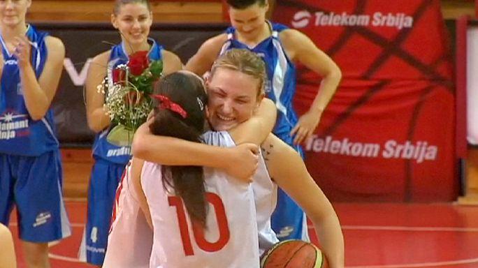 Serbian basketball player returns following amputation