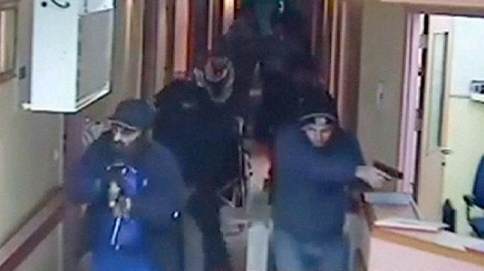 """لقطات تظهر لحظة مداهمة وحدة """"المستعربين"""" الاسرائيلية لمستشفى بالضفة وقتلها فلسطيني"""