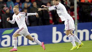 EURO 2016 baraj maçında Macaristan deplasmanda kazandı