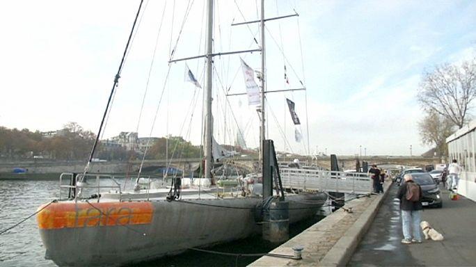 Tara yelkenlisi küresel ısınmaya dikkat çekmek için Paris'te