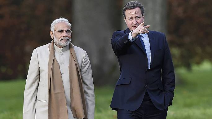 Narendra Modi à Londres : tapis rouge et signature de contrats