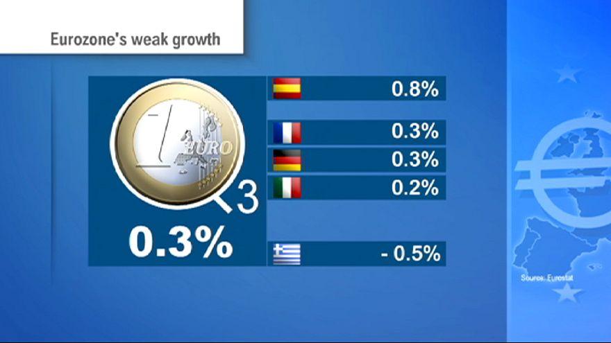 Crescimento da zona euro abranda no terceiro trismestre