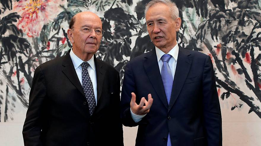 Image: U.S. Commerce Secretary Wilbur Ross, Chinese Vice Premier Liu He