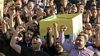 تشییع پیکرهای قربانیان حملات انتحاری در بیروت و تاکید نخست وزیر لبنان بر وحدت ملی