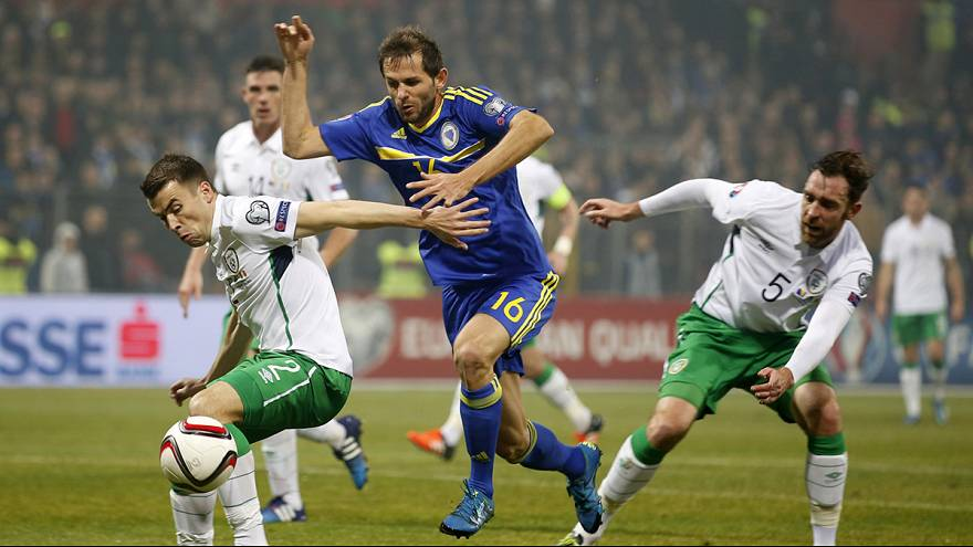 Ireland grab away goal in first Euro playoff against Bosnia-Hezegovina