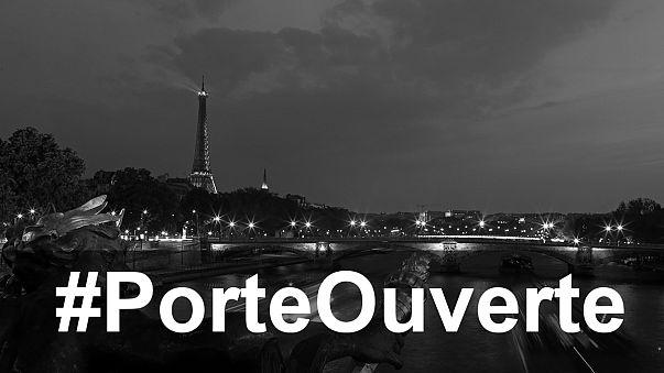 """Париж - город открытых дверей. Под тэгом #PorteOuverte в """"Твиттере"""" предлагаются помощь и убежище"""