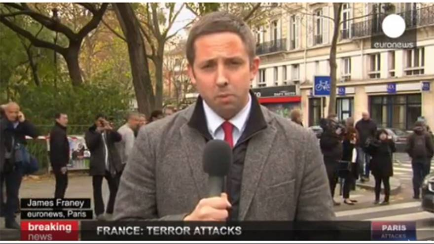 Paris attacks: Euronews correspondent James Franey is outside Bataclan
