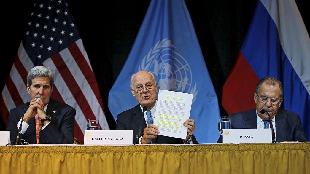 La comunidad internacional sella un acuerdo para lograr la paz en Siria