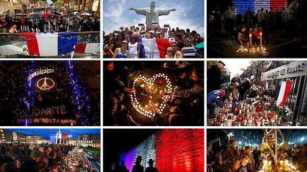 Weltweites Gedenken an die Opfer der Attentate von Paris