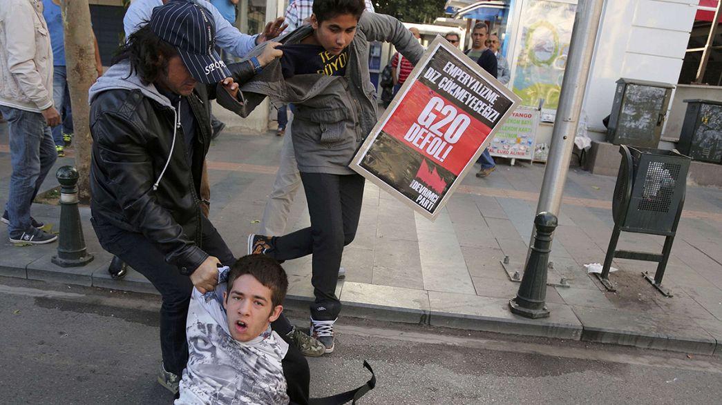 Protestos anticapitalistas à margem do G20
