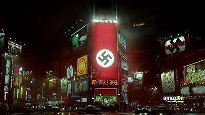 Swastikas over Times Square in 'The Man in the High Castle'