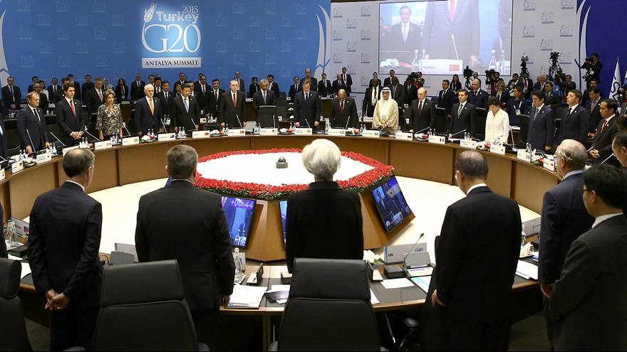 G20: минута молчания в память о жертвах парижских терактов