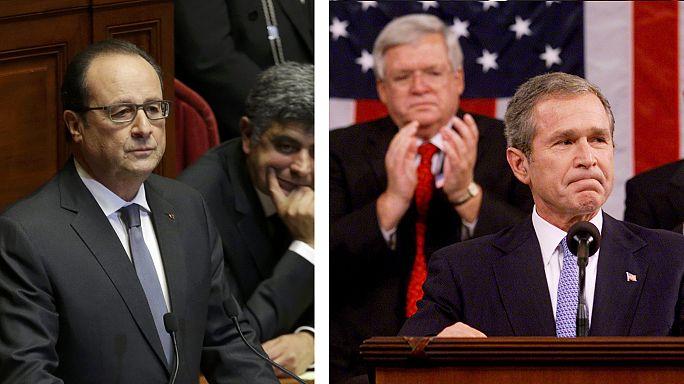Bush vs Hollande: can you tell their speeches apart?