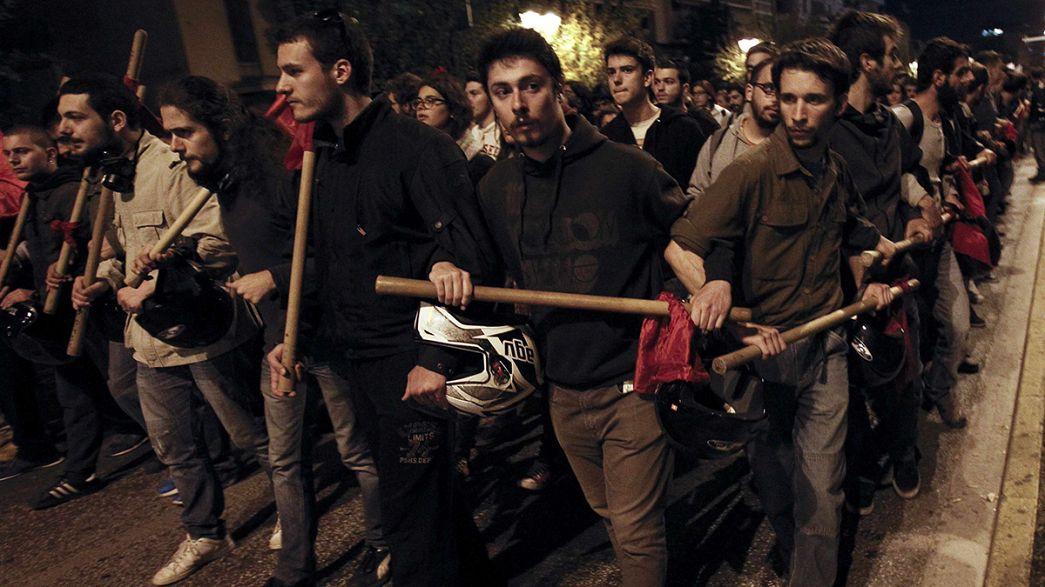 Griechenland: Auschreitungen bei Gedenkveranstaltung