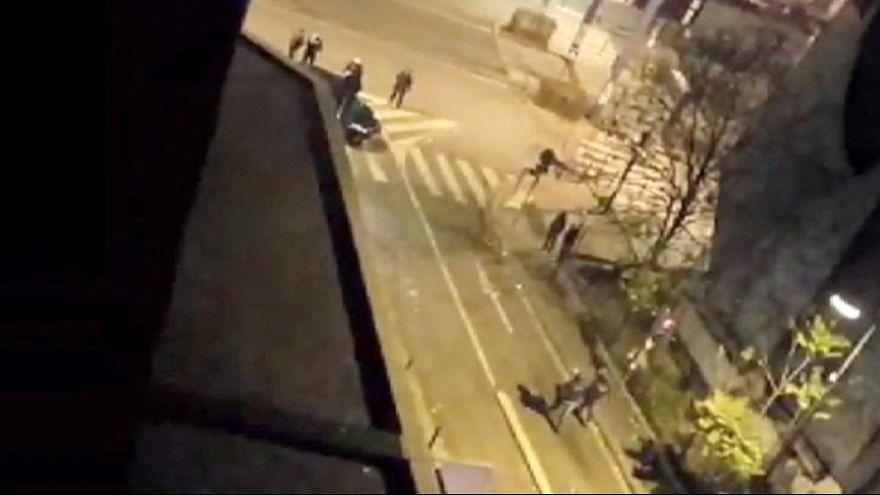 Egy szemtanú videója a szerdai rendőri akcióról