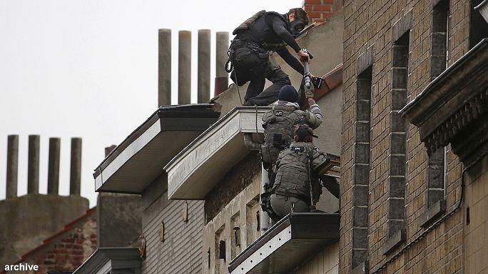 عمليات أمنية للشرطة البلجيكية في بروكسل