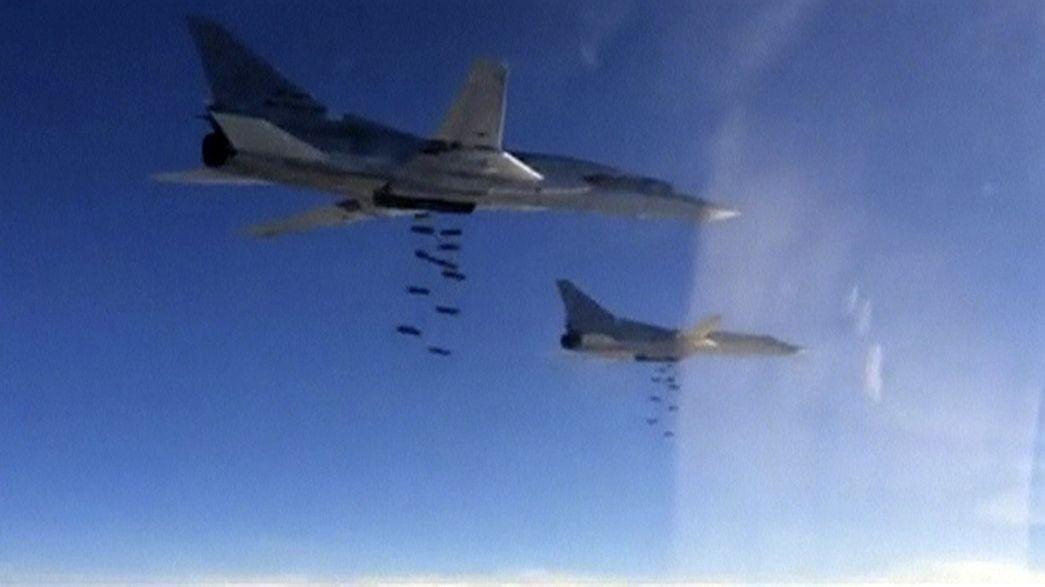 Moscovo publica imagens de bombardeamentos contra o EI