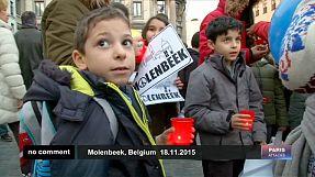 Molenbeek homenajea a las víctimas de los atentados de París