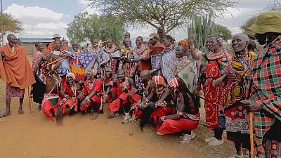 Caught by the Maasai at mid-on 'Warriors' play cricket