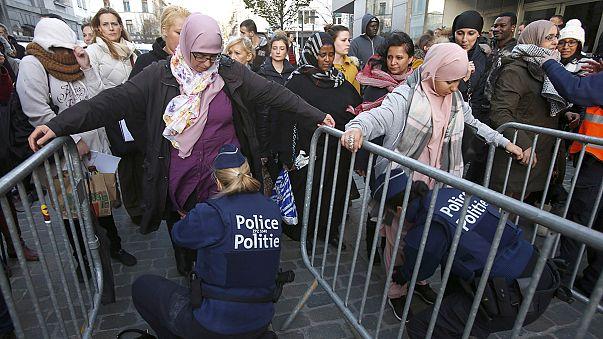 Megdöbbentek és félnek a brüsszeli muszlimok