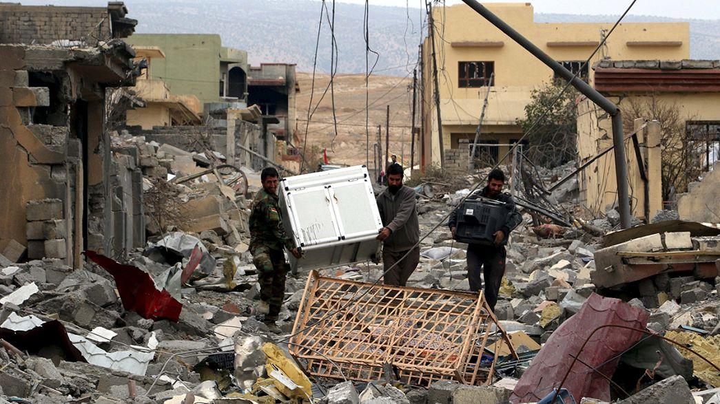 Szindzsar romokban az ostrom után
