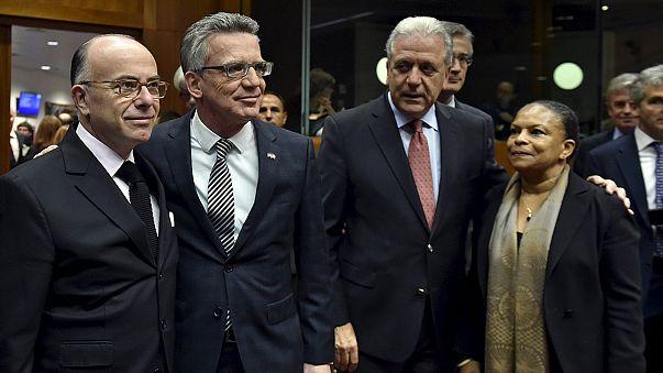 Ministros do Interior e da Justiça da União Europeia debatem o terrorismo em Bruxelas