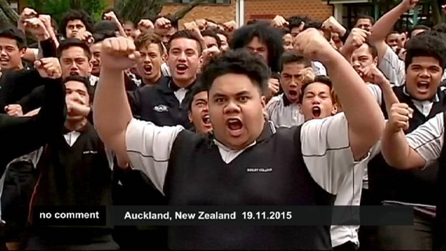 New Zealand: students' haka in honour of Jonah Lomu